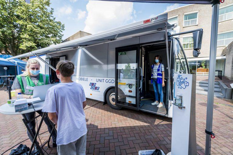 Prikbus in Waddinxveen aan de Sniepweg