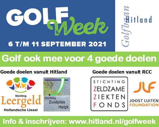 Golfen, genieten én goede doelen steunen: Golfweek bij Hitland!
