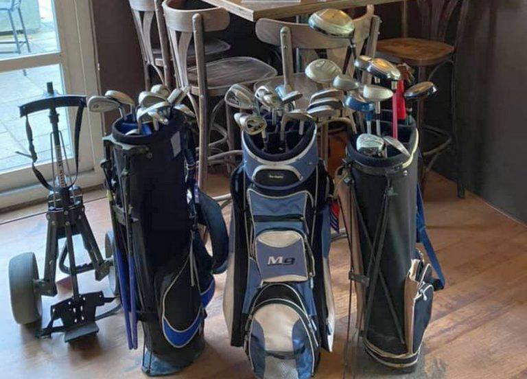 Verkoop tweedehands golfclubs voor goed doel