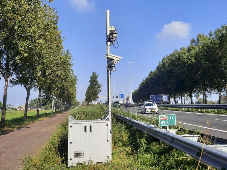 Telcamera's Rijkswaterstaat A20 worden aangezien voor flitser snelheidscontrole
