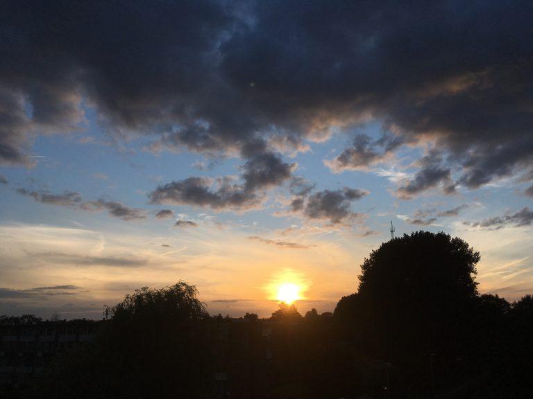Zonsondergang boven Dorrestein
