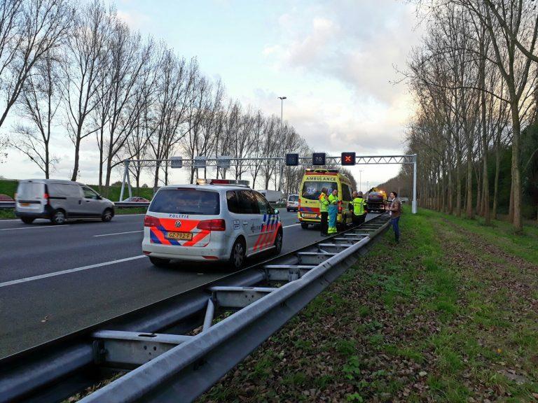 Audi verliest van Volvo bij aanrijding op A20