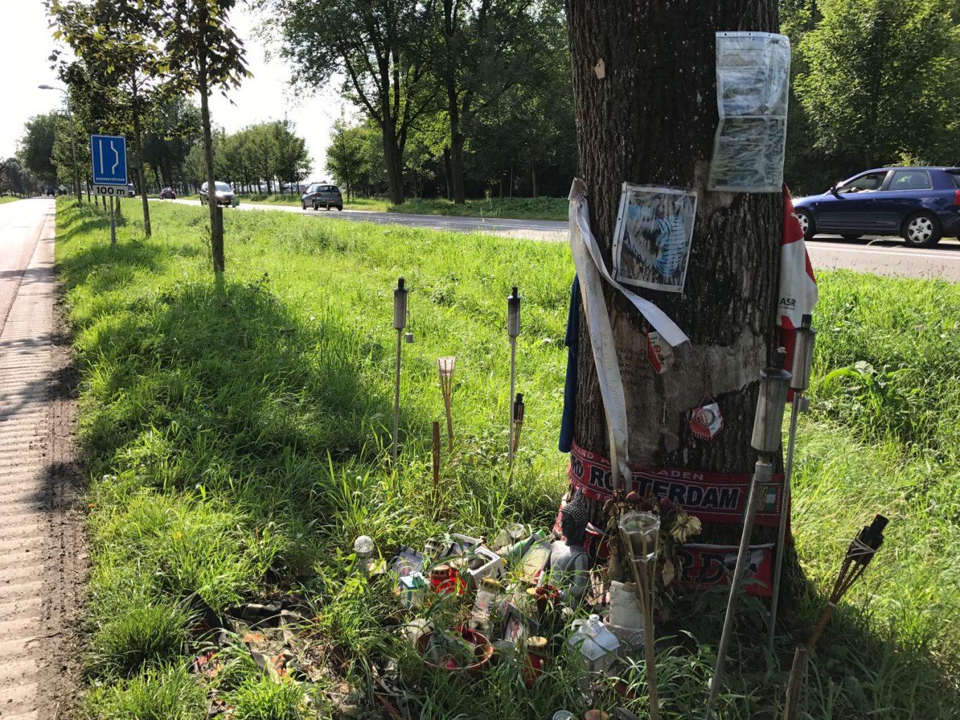 Gedenkplaats dodelijk ongeval