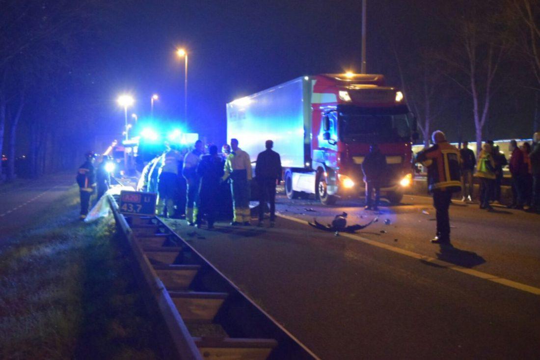 Ongeval A20 4 november 2017 Moordrecht Nieuwerkerk