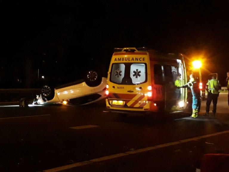 Ravage op A20 na ongeval bij Nieuwerkerk aan den IJssel