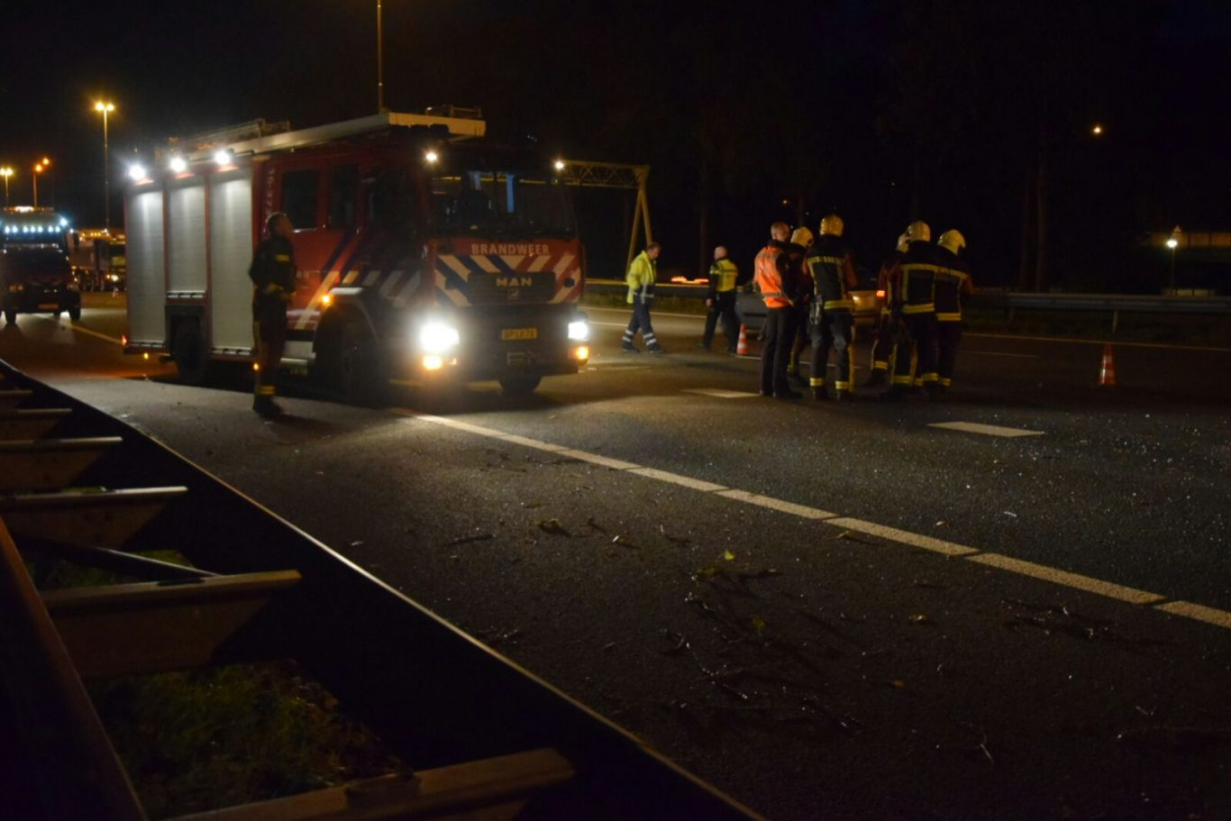 Ongeval A20 Nieuwerkerk 5 oktober