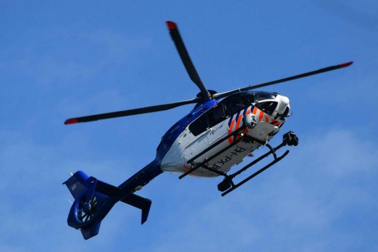 Politiehelicopter zoekt druk in buurgemeenten