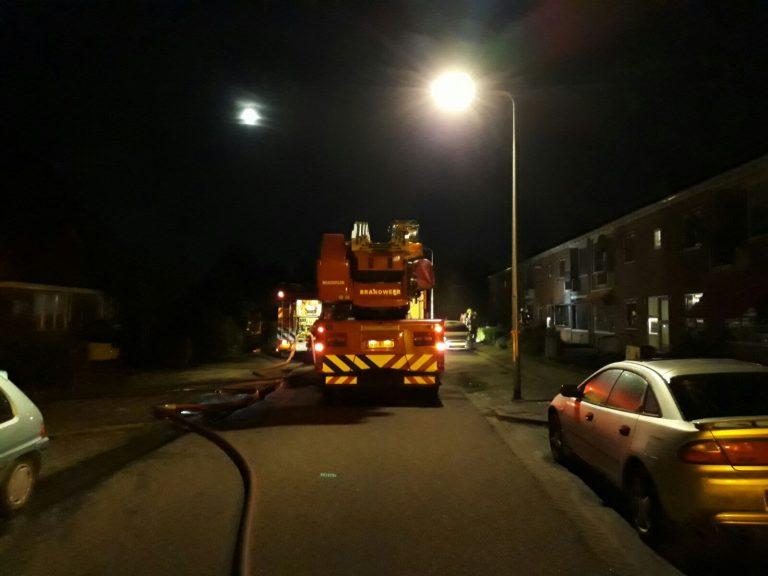 Explosiegevaar bij woningbrand Pr. Beatrixstraat Nieuwerkerk